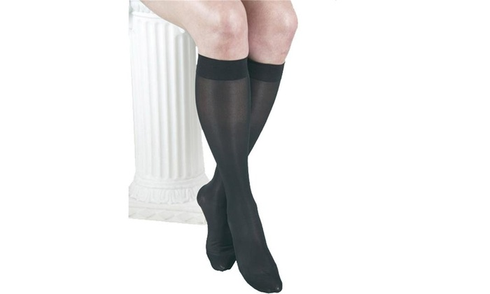 626c2c28d GABRIALLA Sheer Knee Highs - Compression (23-30 mmHg)  H-180 2X-Large Black  Black