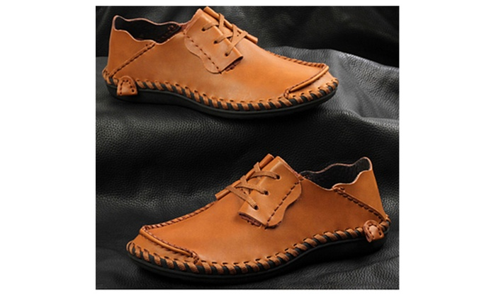 Men Leather Comfort Loafers Breathable Shoes Hot Sale