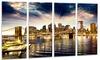 Brooklyn Bridge and Manhattan Skyline - Cityscape Aluminium Wall Art