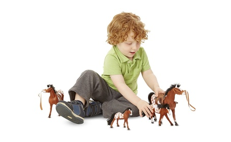 Melissa & Doug Horse Family With 4 Collectible Horses cb9291b4-3633-449b-b2fd-ea4a1c1b7f80