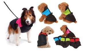 Waterproof Pet Dog Clothes Winter Warm Padded Coat Vest Snowsuit Jacket 7 Sizes