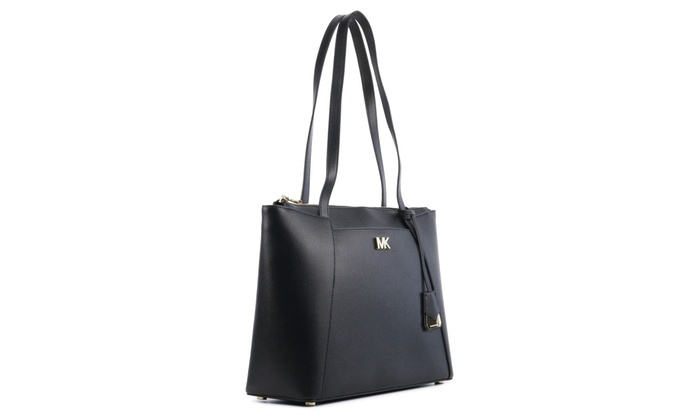 f36022198 Michael Kors Maddie Medium Crossgrain Leather Tote - Black - 30S8GN2T2L-001
