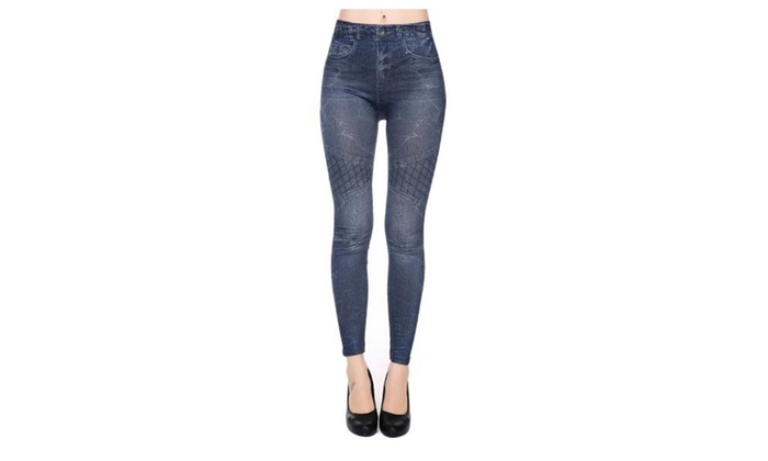 Women's Skinny Long Stylish Casual Slim Fit Jeans - Black / One Size