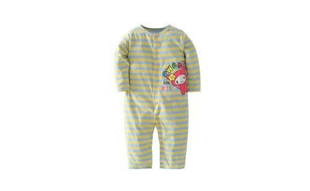 Lovely Baby Toddler Baby Stripe Cotton Conjoined Long Sleeve 3379b998-fee6-44f2-9787-8d33ea7dc0af