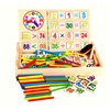 Wooden Mathematics Game Stick Counting Rods Math Numbers Toys Sets