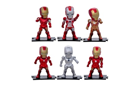 Cool Ironman Attack Iron Man Mark 3 PVC Action Figure 6 pieces / set c125869a-9aec-4337-9043-bffe6a1b6945