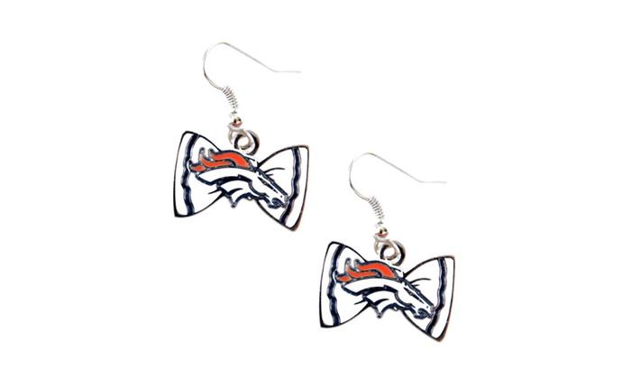 NFL Denver Broncos NFL Bow Tie Earring Dangle