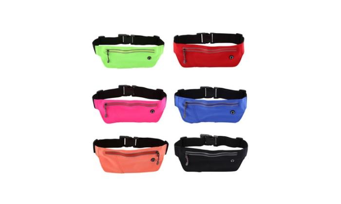 Fashion Waterproof Sports Runner Bum Bag Running Belt Pouch Zip Fanny