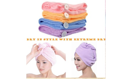 Women's Quick Dry Ultra Absorbent Microfiber Hair Drying Towels Turban Wrap-8 Pk 8a378f3b-106d-49d9-8ef0-6b3ce29df620