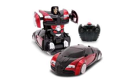 RC Transforming Robot Wall Climbing Sport Car RC Toy for Boys