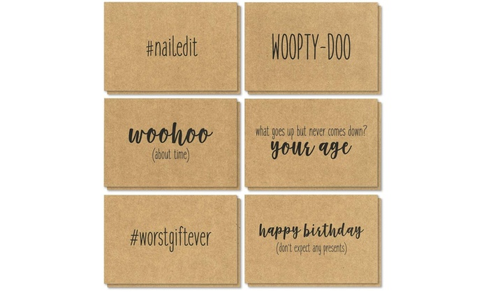 Kraft Birthday Cards Bulk W Envelopes