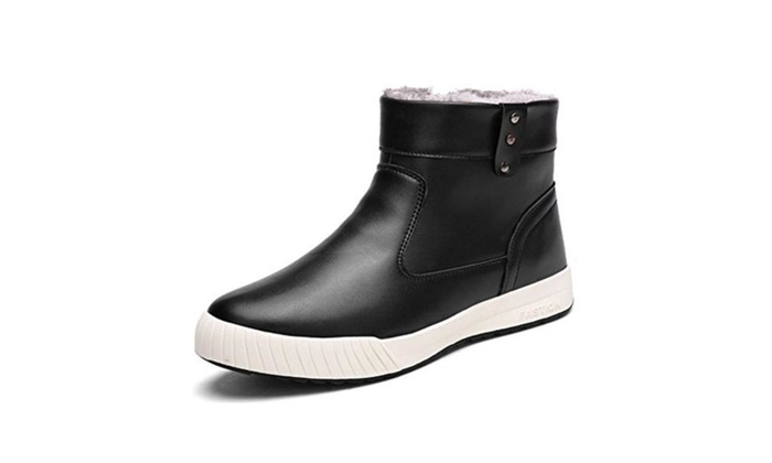 DUODUO Men's 8809 Casual Leather Warm Winter Snow Boots Shoes