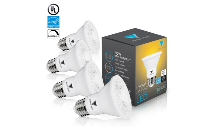 Triangle Bulbs (4-Pack) PAR20 50W Replacement Dimmable LED Light Bulbs