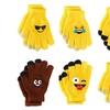6 Pack Kids Unisex 3 Finger Emoji Touch Sensitive Gloves