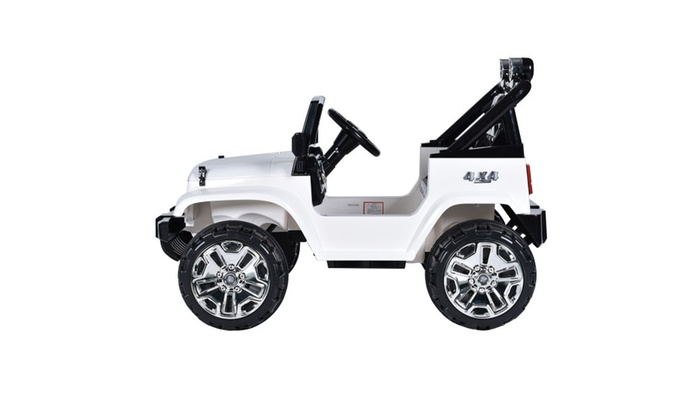 Costway 12v Kids Ride On Truck Jeep Car Rc Remote Control Groupon