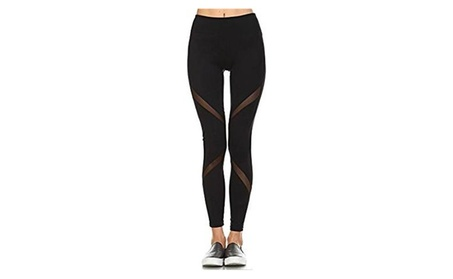 Women's Performance Activewear Yoga Leggings with Sleek Contrast 6ef8a5f1-5645-42c8-b854-0d3a9329d545
