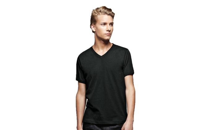 Bella Mens Jersey Short Sleeve V-Neck Tee, 3005