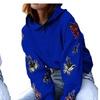 Women's Vogue Butterfly Printed Long Sleeve Hoodie Sweatshirts