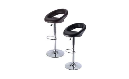 1 PC PU Leather Adjustable Swivel Bar Stool Hydraulic Chair Barstools 06b35b19-20ef-48c4-a44b-1ebf2aedc4b6