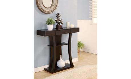Aniessa Cappuccino Single Drawer Open Shelf Entryway Table 7ec1ca2f-3418-4abd-8285-86e62586465c