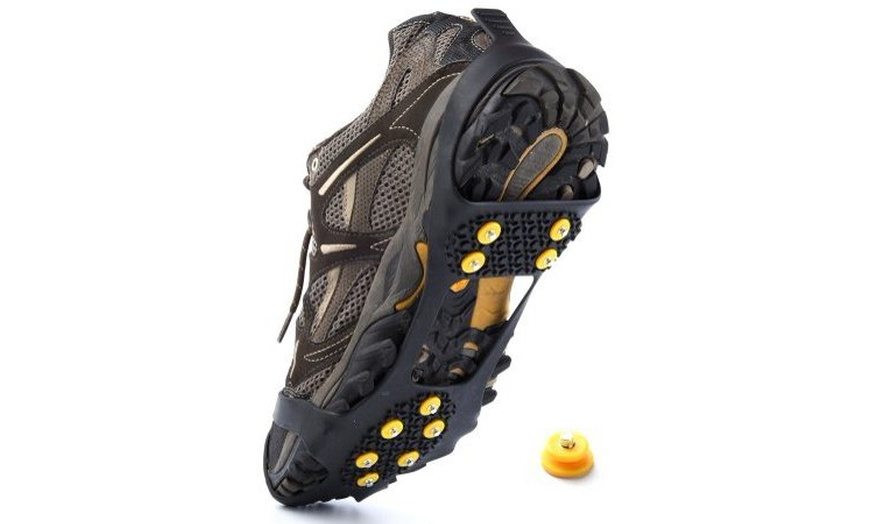 Snow Ice Grips Anti Slip Shoe Over Shoe Spikes Boot Crampons Cleats Over Shoe