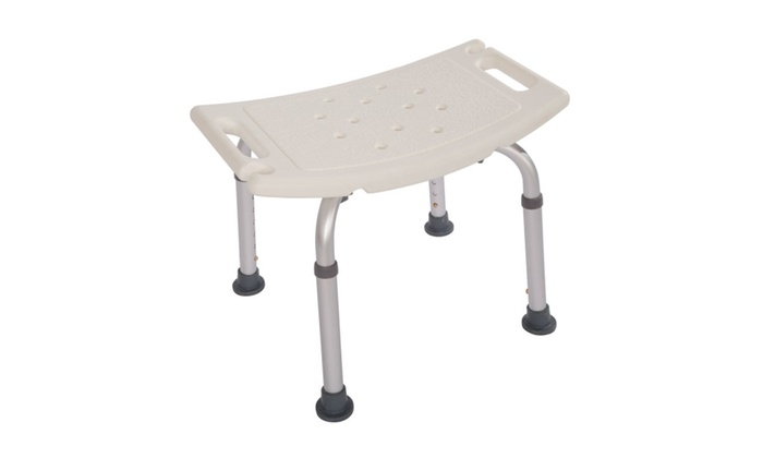 sc 1 st  Groupon & Aluminium Alloy Elderly Bath Chair without Back of a Chair White ...