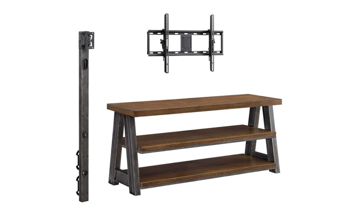better homes and gardens tv stand. better homes and gardens mercer 3-in-1 brown tv stand for tvs up to 70 tv n