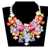 Acrylic Beaded Big Statement Flower Necklace for Women