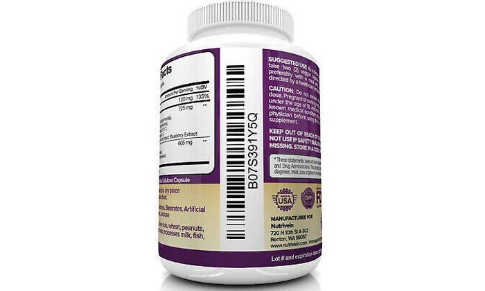 Up To 10 Off On Nutrivein Resveratrol 1450mg Groupon Goods