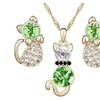 Austria Crystal Classic Cat Cute Jewelry set for Women