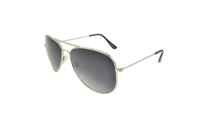 MLC EYEWEAR Tri-Layer Chic Aviator Sunglasses - SILVERPB2