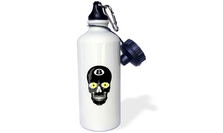 Water Bottle Eight Ball Skull Skeleton Head Pool Billiards Sports Design