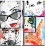 Girls Collage - Portrait Modern Metal Wall Art