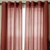 Lavish Home Olivia Jacquard Grommet Curtain Panel Pair