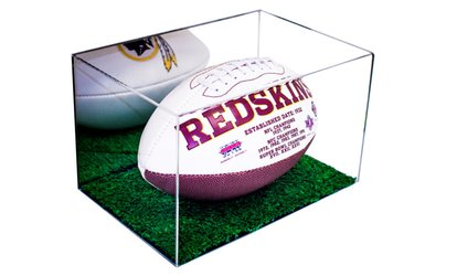 image for <strong>Football</strong> Display Case with Turf Bottom