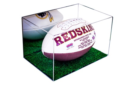 Football Display Case with Turf Bottom 4ba043f4-52aa-4dd7-a773-c6c6ee6d3505