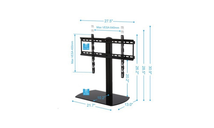 ... FITUEYES Swivel Tabletop TV Stand With Mount For 32 To 65 Inch