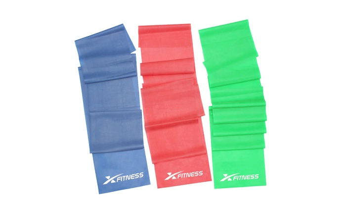 xFitness Flat Latex Stretch Resistance Training Bands