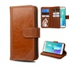 Insten Brown Leather Case Stand Wallet For Samsung Galaxy S6 Edge Plus
