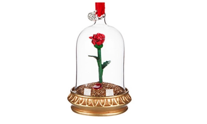 Disney Belle Rose Ornament Light Up Beauty And The Beast