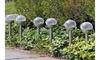 Outdoor Garden Yard Solar LED White Crackle Glass Globe