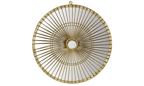 Safavieh Gemini Round Gold-Finish Wall Mirror