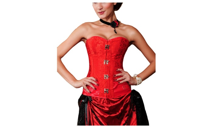 Women's Solid Polyester Popular Collarless Corsets
