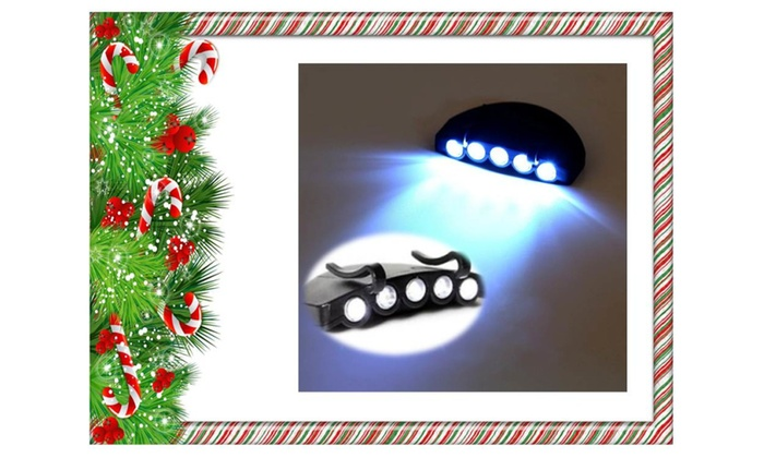 Perfect 1Clip-On 5 LED Head Lights Cap Camping + 1 additional Free