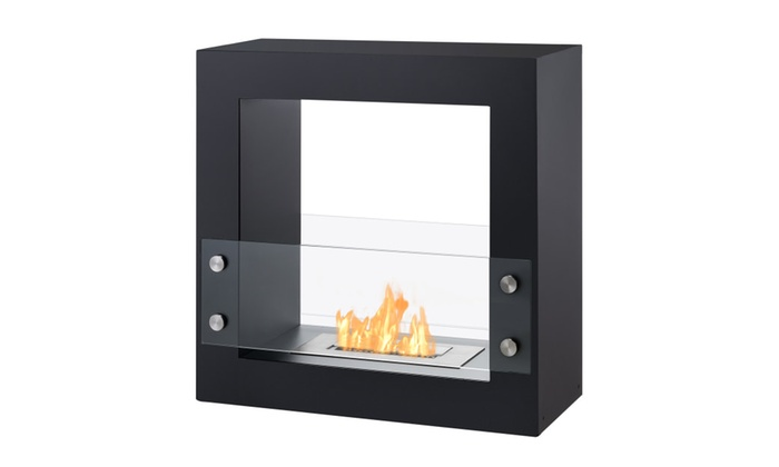 Tectum Mini - Freestanding Ventless Ethanol Fireplace By Ignis