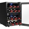 AKDY 12 Bottles Dual Zone Reversible Door Thermoelectric Wine Cooler