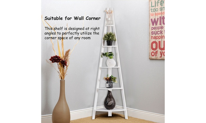 Off On 5 Tier Corner Ladder Shelf Fl