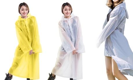 Transparent Rainwear Reusable Waterproof Raincoat Lightweight Packable Raincoat