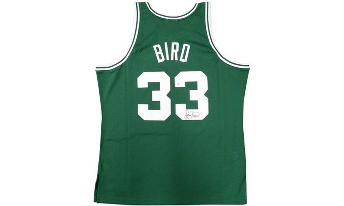 reputable site f4714 2b1c9 Larry Bird Autographed Green Mitchell & Ness Swingman Jersey - Boston  Celtics