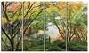 Maple Tree Canopy by Bridge - Photography Metal Wall Art